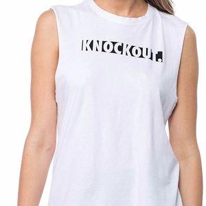 good hYOUman - The Ryan Knockout Tank - White -NWT